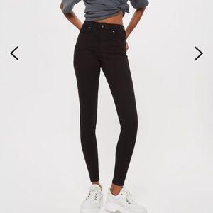Topshop high-waisted skinny jamie jeans black 25